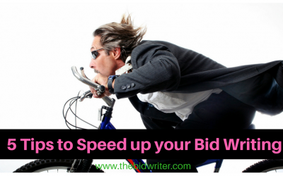 5 tips to speed up your Bid Writing